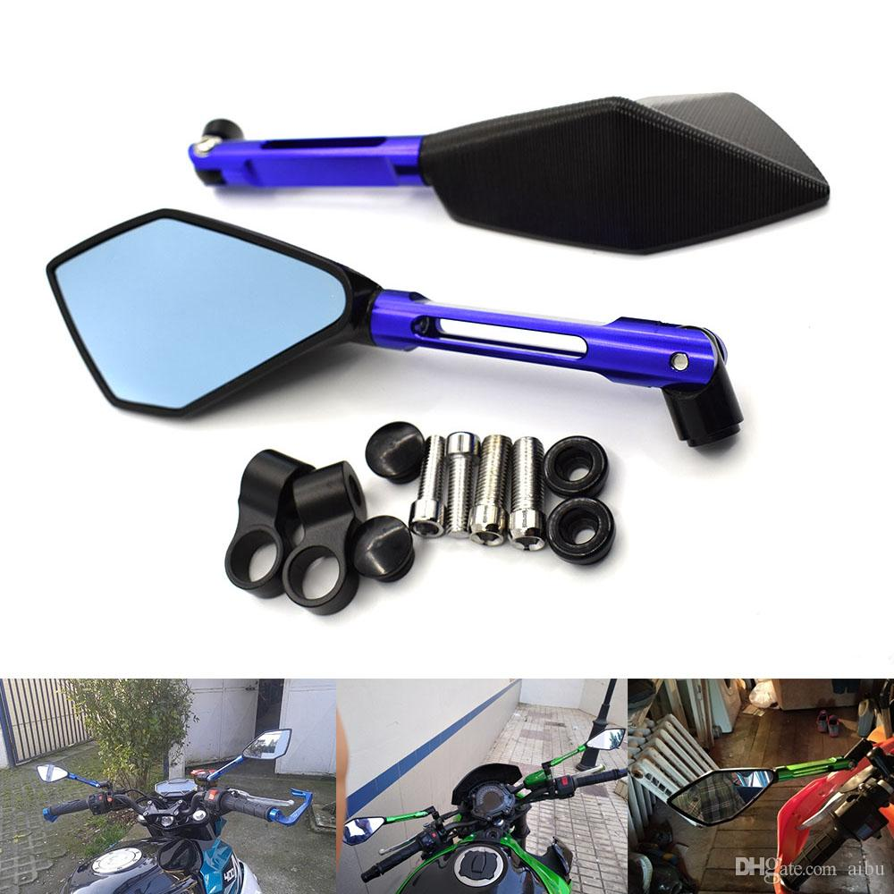 For Motorcycle Scooter Rearview Mirrors For Kawasaki Zx6r Zx7r Zx10r