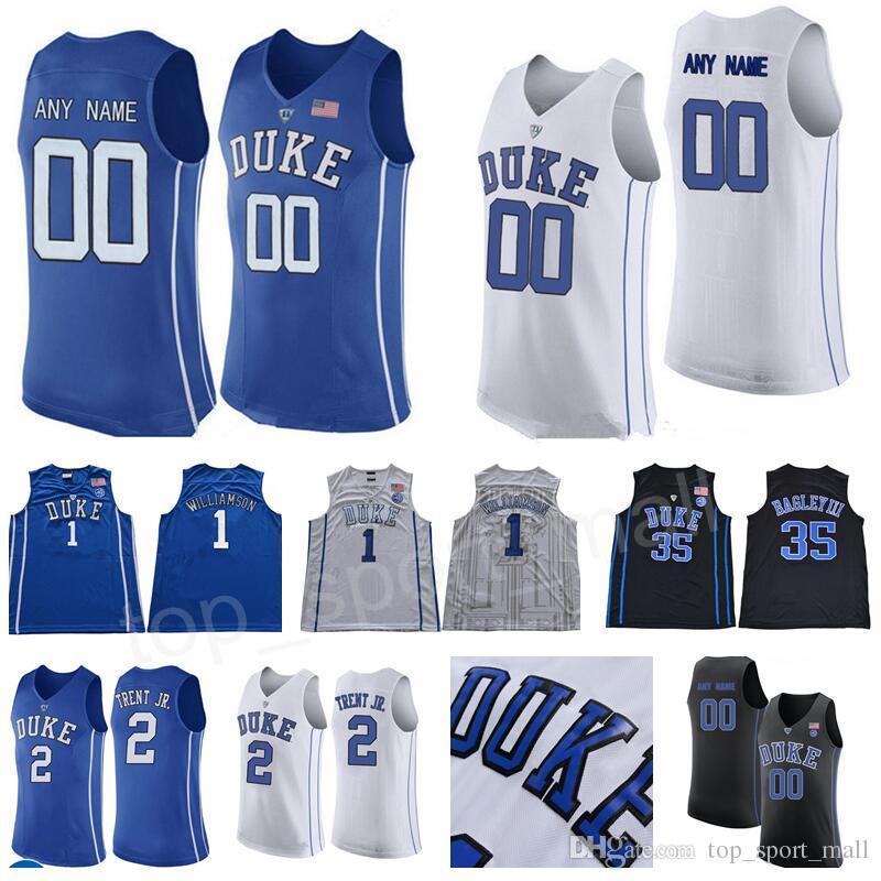 81bec43c6 2019 Custom Basketball Jerseys Duke Blue Devils 1 Zion Williamson Wendell  Carter Jr Trevon Gary Trent Duval RJ Barrett Reddish Tre Jones College From  ...