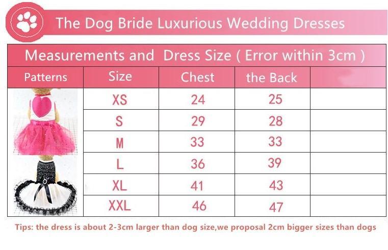 Chien Princesse Robe Chiot Chien Bowknot Robe De Mariage Bling Bling Vêtements S M L pour Fille Chiens De Petite Et Moyenne