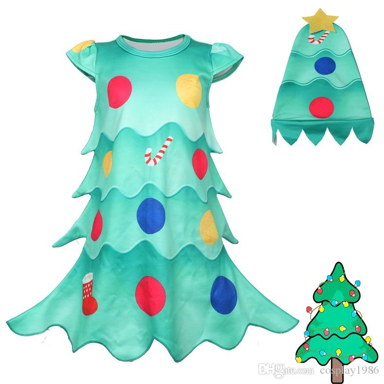 2019 Merry Christmas Tree Dress Plugsuit Outfits Cosplay Halloween