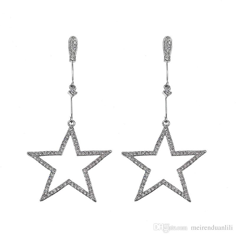 74f4b3dd7 Cute Star Earrings For Women Zircon Dangle Earrings For Women Kids Girls  925 Sterling Silver Long Drop Earrings Best Gift With Free Box UK 2019 From  ...