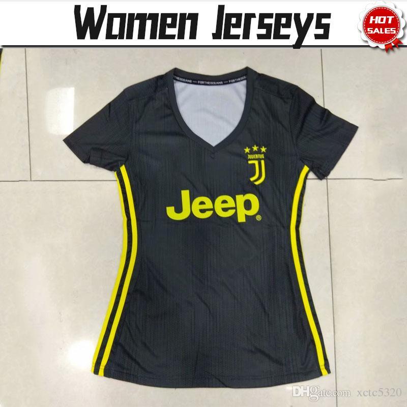 d5359b2c1 Women Juventus Third Soccer Jerseys 18 19  7 RONALDO  10 DYBALA  17 ...
