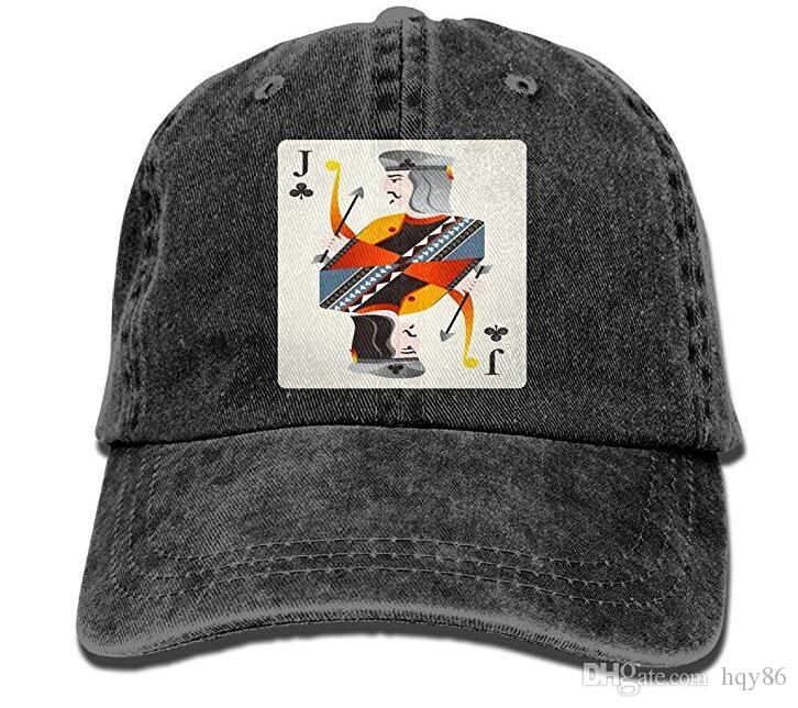 Jack Playing Card Men Soft Denim Cotton Adjustable Dad Hats Baseball Caps  Hat Stores Custom Trucker Hats From Hqy86 7801b2f5276d