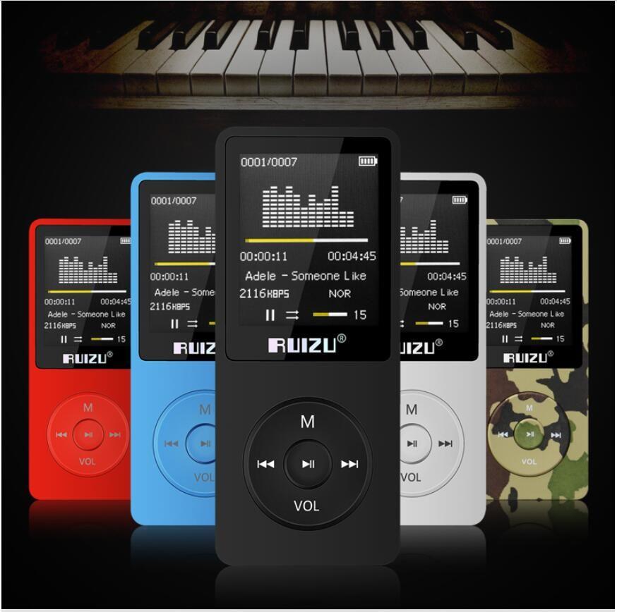 Mini USB Flash MP3 Ultrafino MP3 Mp4 Player Usb 8Gb Almacenamiento 1.8 Pulgadas Play Play 80h Alta calidad Mp3 Players Radio FM E-Book Music Player R