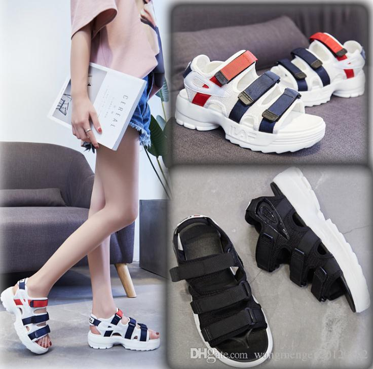 b06a6251c38 2018 New Summer Loose Platform Sandals Female Wild Students Soft Roman  Beach Shoes Tide Silver Shoes Mens Sandals From Wangmengen20120102