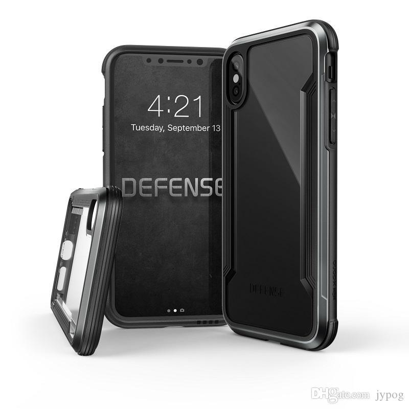 IPhone XS XR XS için Max Case Defender Vaka Yüksek Darbe Sert Sağlam Arka Kapak Telefon Kılıfı iPhone XR için dikkatle inşa