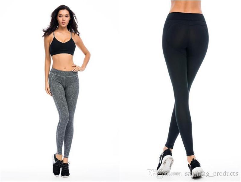Compre Las Mujeres Levantan La Glúteos De Fitness De Secado Rápido Deportes  Pantalones Apretados Las Polainas De Las Mujeres De Yoga Pantalones  Elásticos De ... aa84cca55958