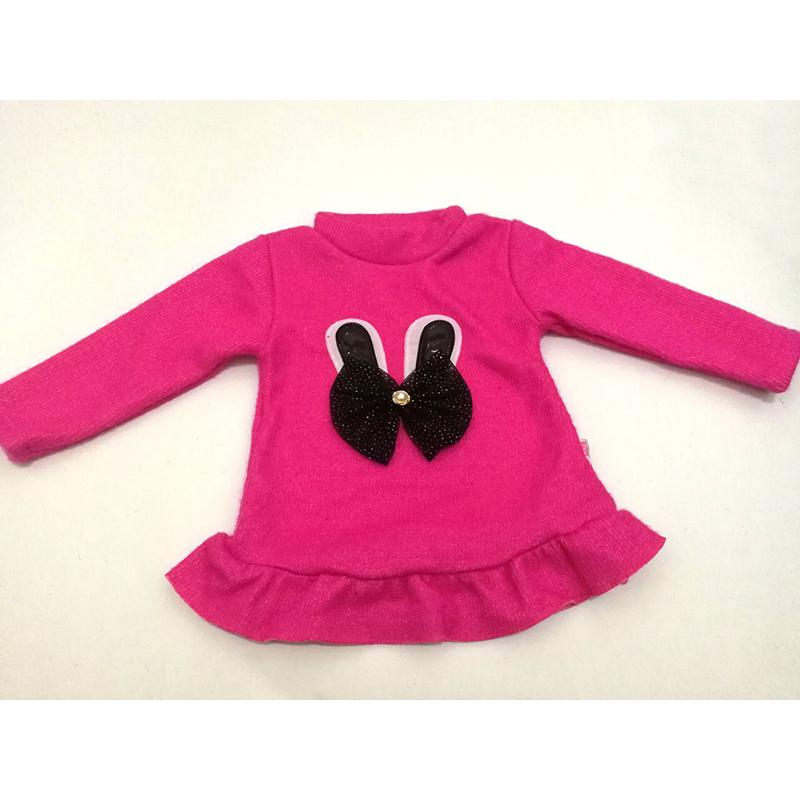 New Arrived Baby Girls Dress Sweatshirts Autumn Winter Keep Warm Coat Hoodies Cartoon Rabbit Ears Bow Design Kids clothes H3