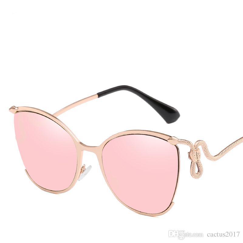 3ba6a3d4375688 Großhandel Katzenaugen Sonnenbrille Frauen Schlange Klassische Marke  Designer Mode Rahmen Sonnenbrille Für Frauen Flache Spiegel Oculos De Sol  Von ...
