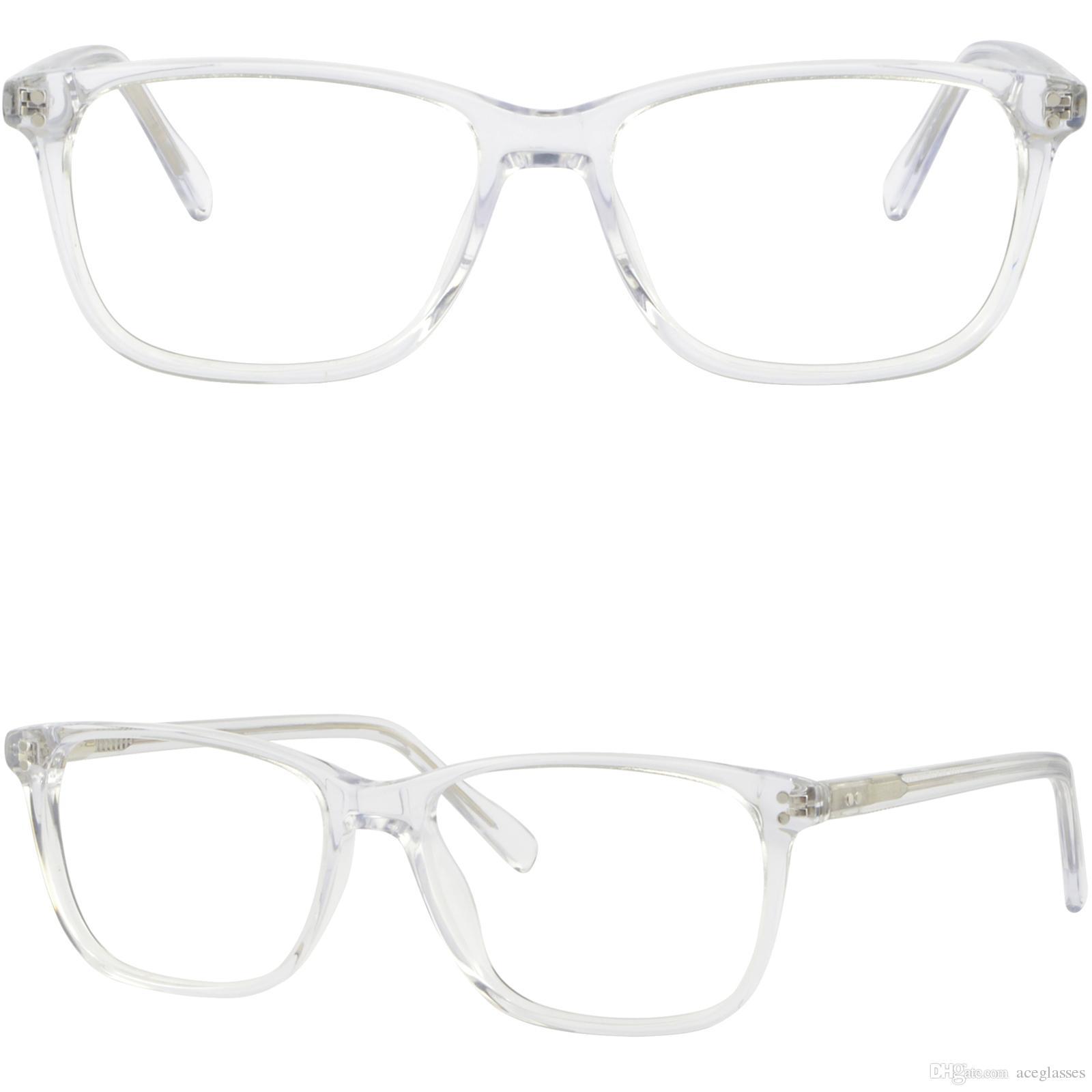 Clear Men Women Acetate Frames Light Transparent Glasses Spring ...