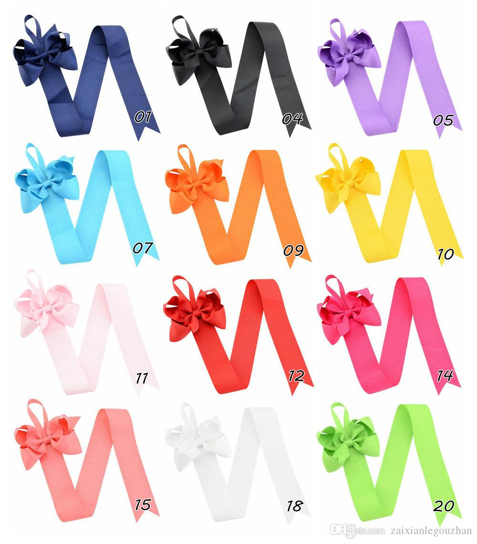 Kids Girls Children Hair Clip Organizer Grosgrain Ribbon Hair Bow