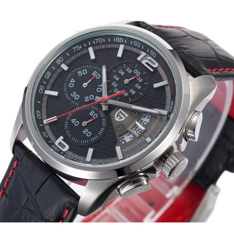 b0feac8a644 Compre Relógios Por Atacado Homens Marca De Luxo Multifuncionais Pagani  Design Quartz Homens Esporte Relógio De Pulso Mergulho 30m Relógio Casual  Relogio ...