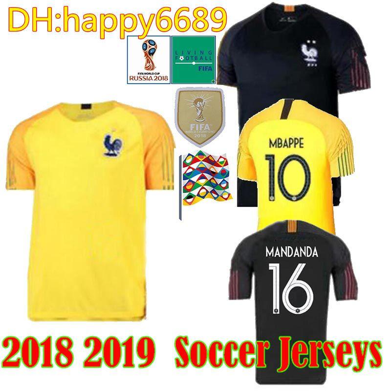 2f7342b3c 2019 2018 2019 French Goalkeeper UEFA National League Mbappe Soccer Jersey  Soccer Shirt Long Sleeve  1 Lloris Jerseys GK Football Uniform Shorts From  ...