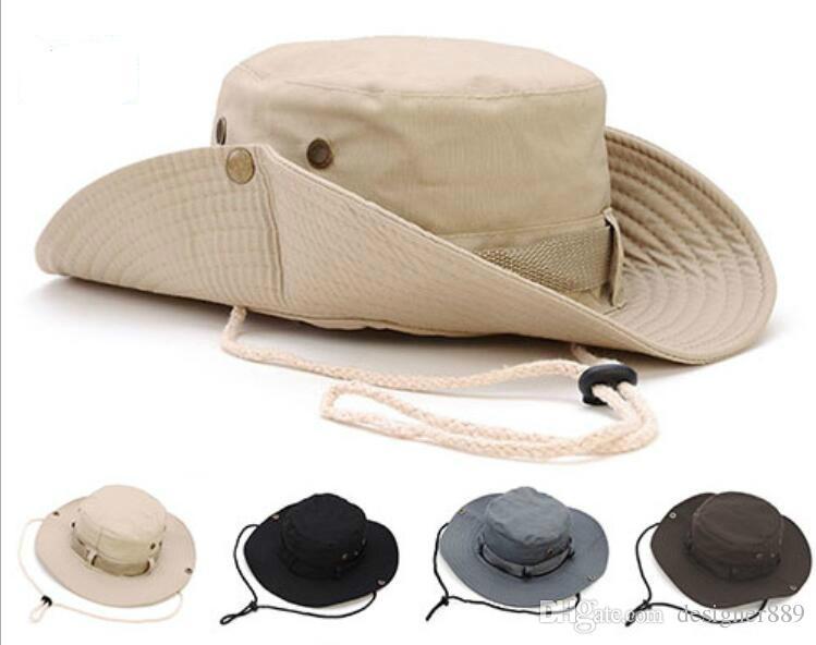 0b6d13d427 Compre Nueva Llegada Casual Ourdoor Sombrilla Hat Cap Homburg Viajes Pesca  West Cowboy Fashion Bucket Sombreros Para Hombres A  2.92 Del Designer889  ...