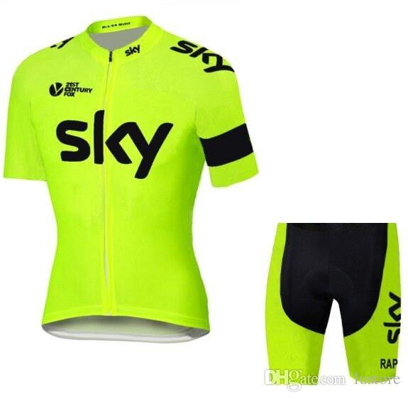 46ddacf79 Promotion Tour De France Sky Team Jerseys Bike Wear Cycling Jersey Short  Sleeve Cycling Tights + Bib Pants Cycling Skinsuit Sale Bike Shirts Biking  Clothes ...