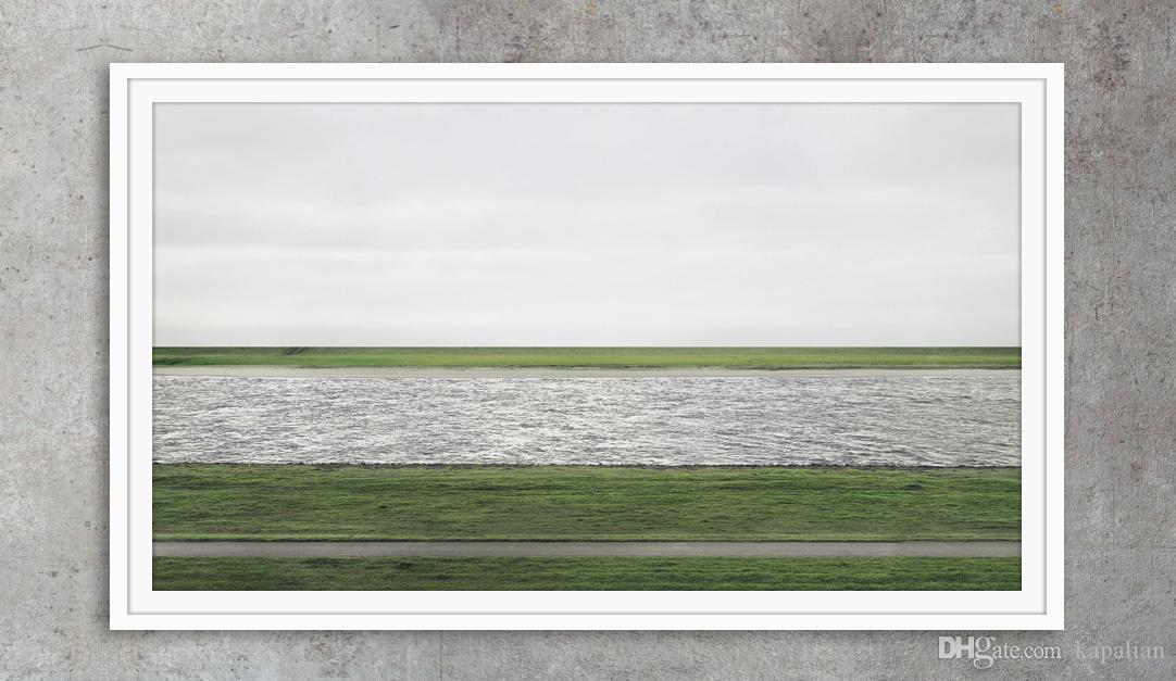 Andreas Gursky Photography Rhein ii Art Posters Print Photo paper 16 24 36 47 inches