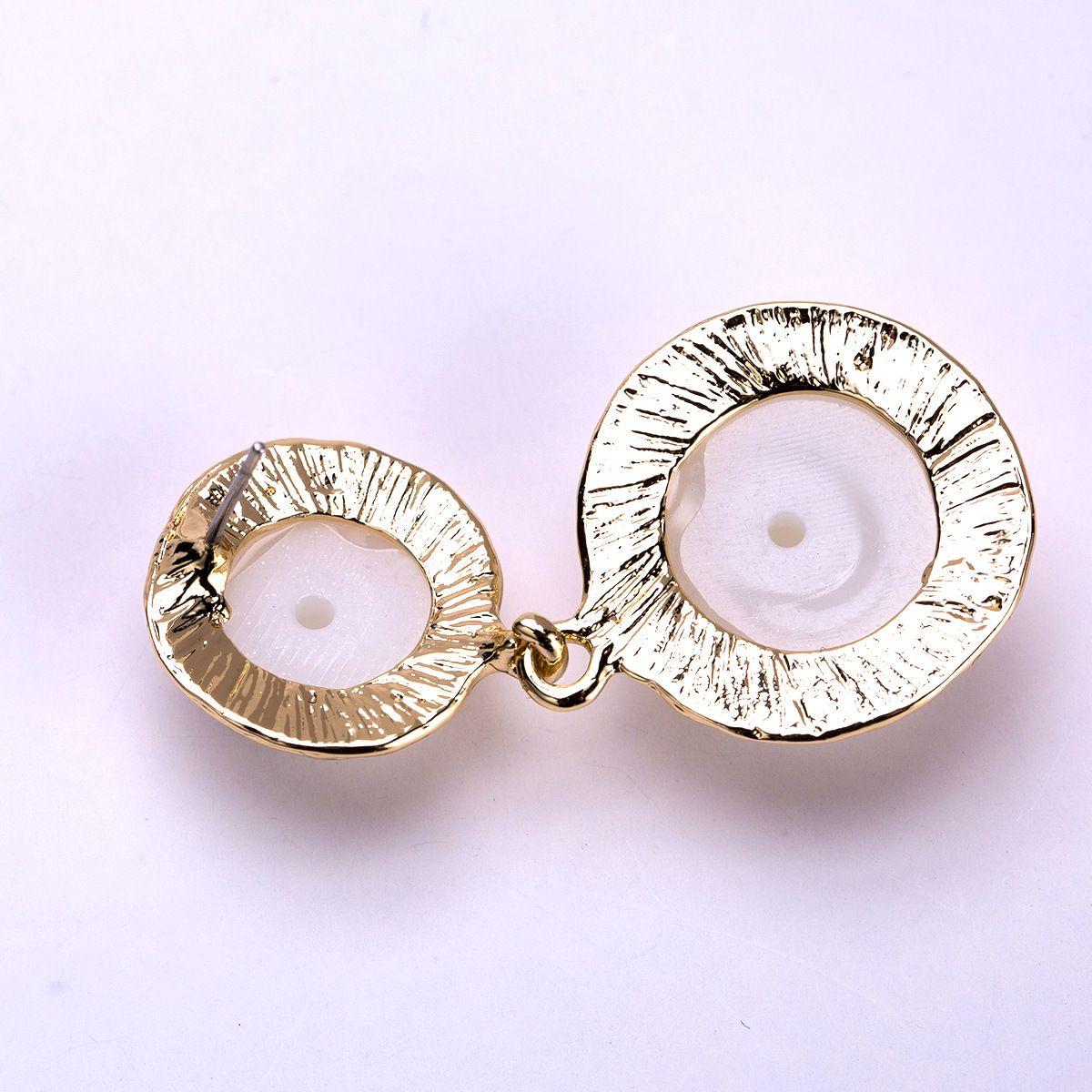 drop Earrings for women Luxury boho personality Dangle earrings Imitation pearls simple Vintage geometric fashion Jewelry wholesale 2018 new