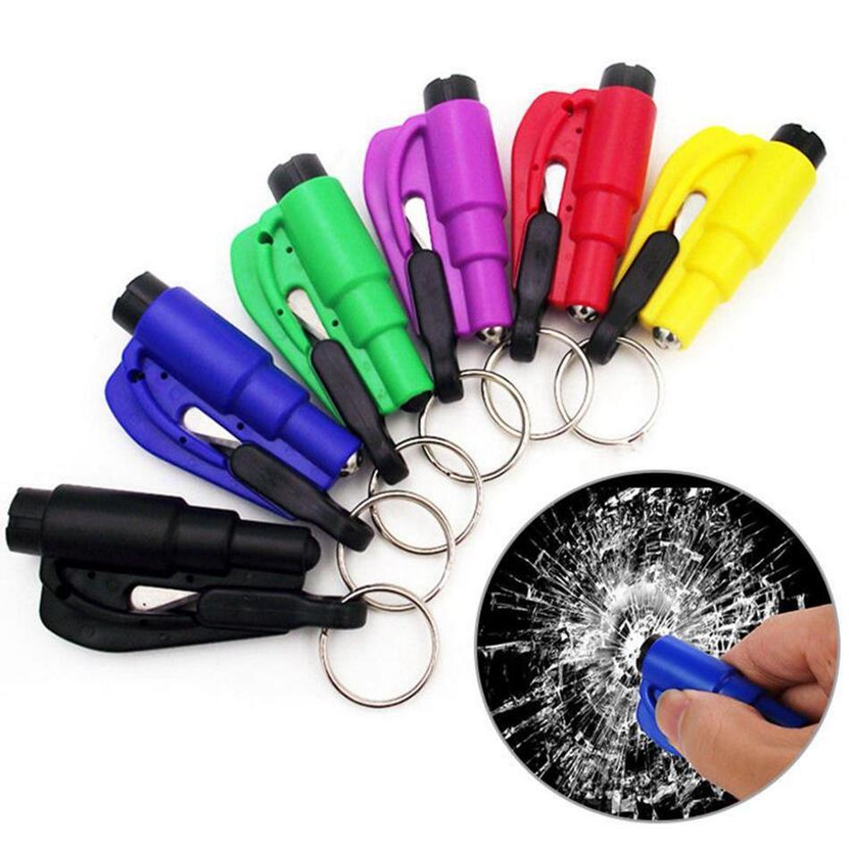 Mini Portable Car Safety Hammer Auto Car Window Glass Breaker Seat Belt Cutter Escape Rescue Emergency Tools OOA4414