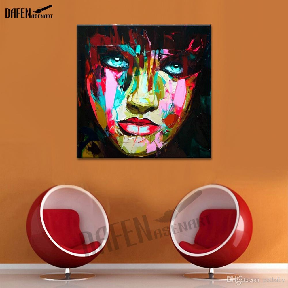 Chorando Menina Paleta Faca Figura Imagem Abstrata Pintados À Mão Pintura A Óleo sobre Tela Decoração Da Parede para Bar Decoração de Casa