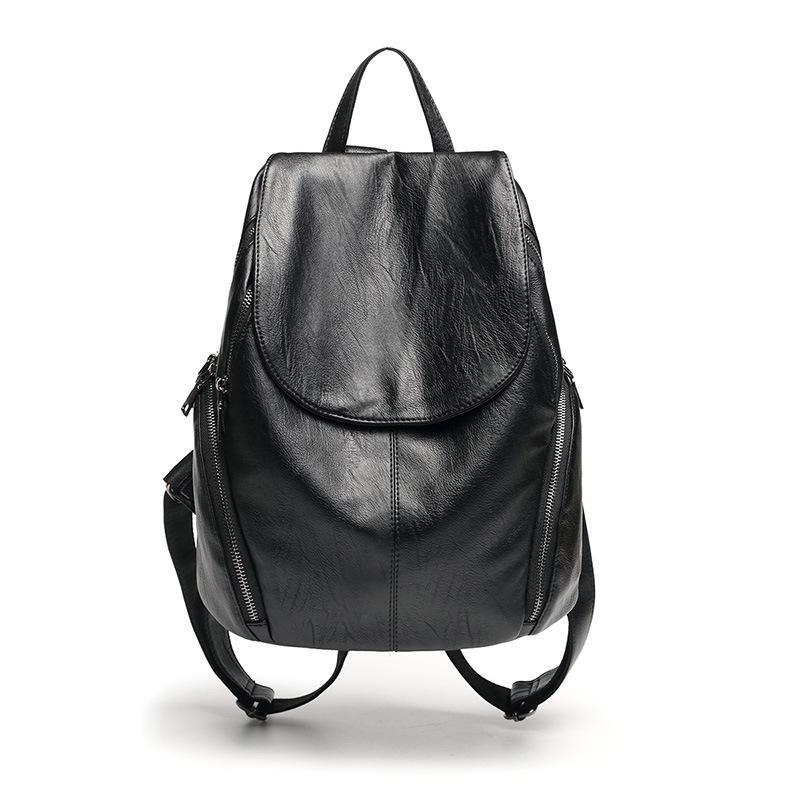 Luxury Black Women Backpack Genuine Leather Crocodile Pattern Female ... 4d9022679837f