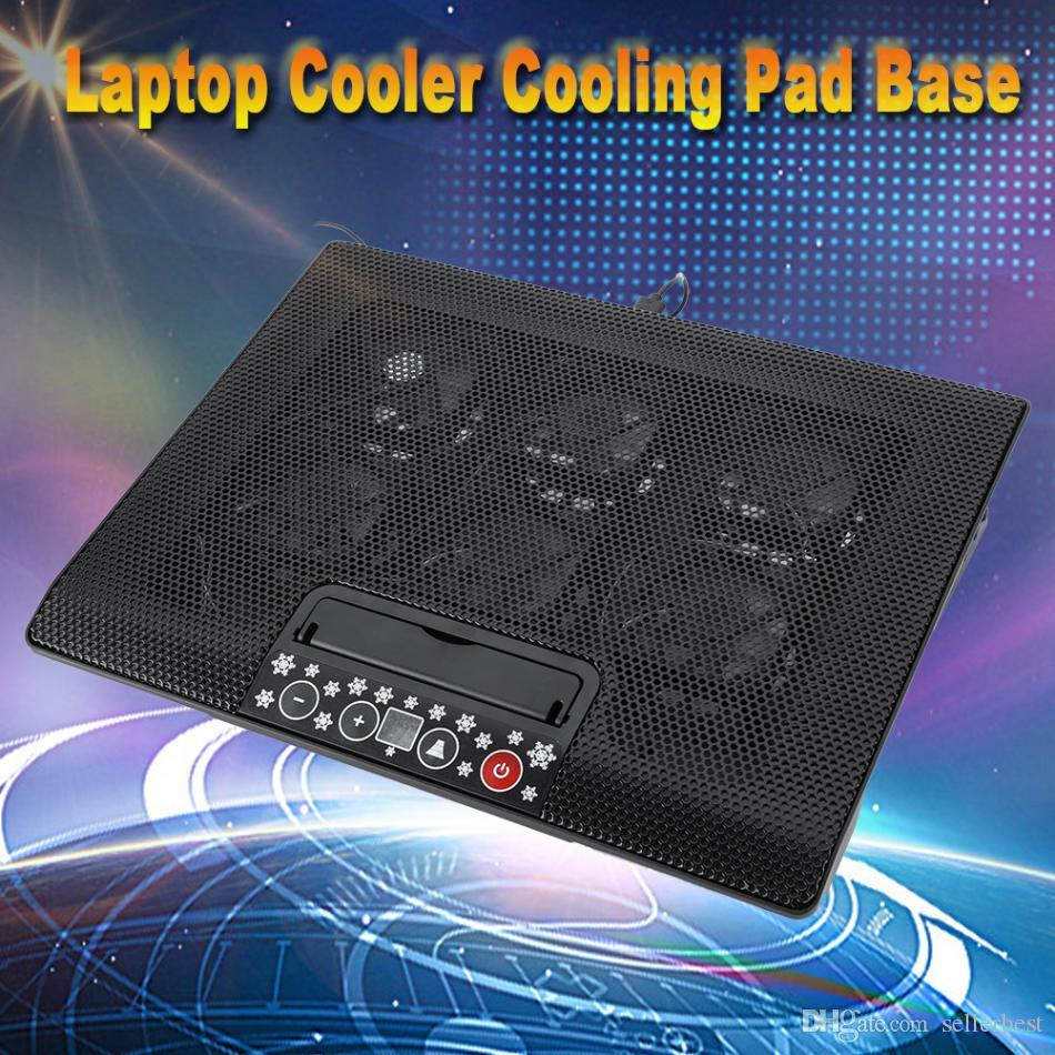 Under 17inch Laptop Notebook Cooler Cooling Pad Base USB Fans Adjustable Angle Mounts with Holder Stand