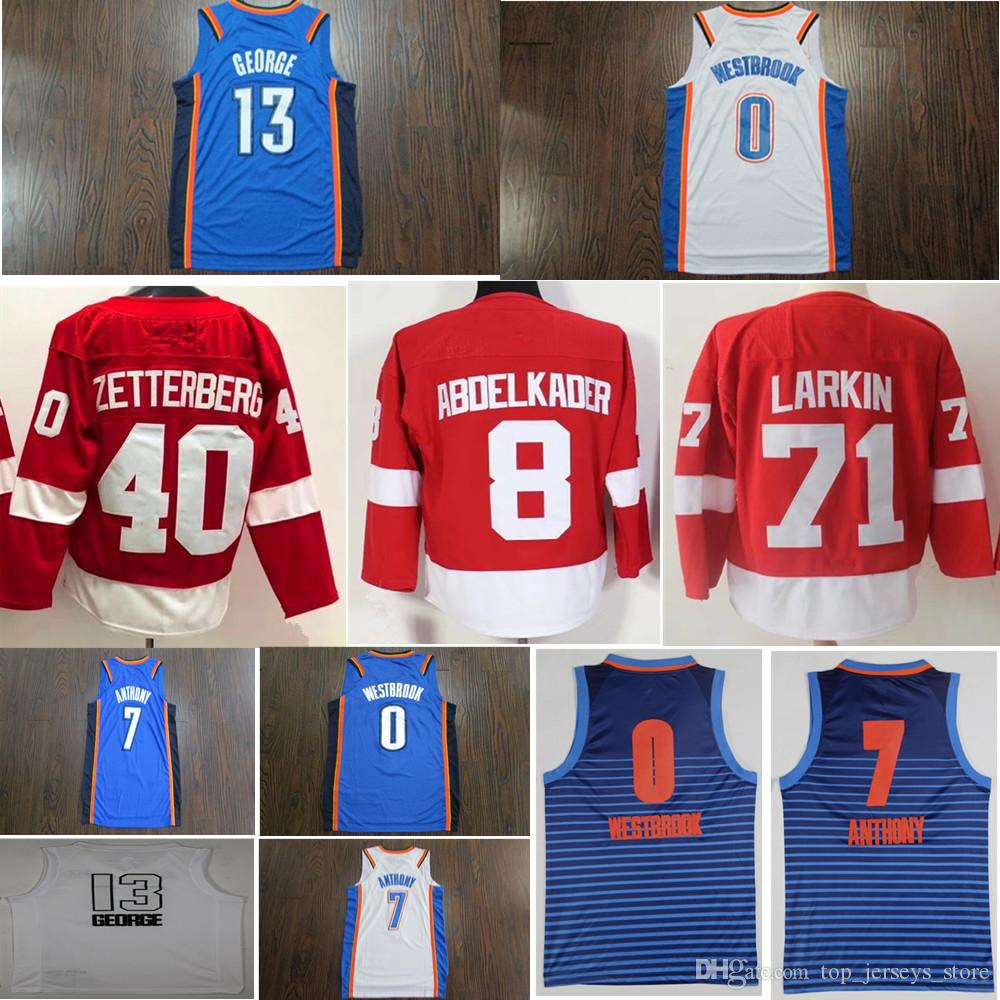eea26fcac4a ... germany 2018 2018 new season cheap men russell westbrook carmelo  anthony hockey jerseys stitched blue top