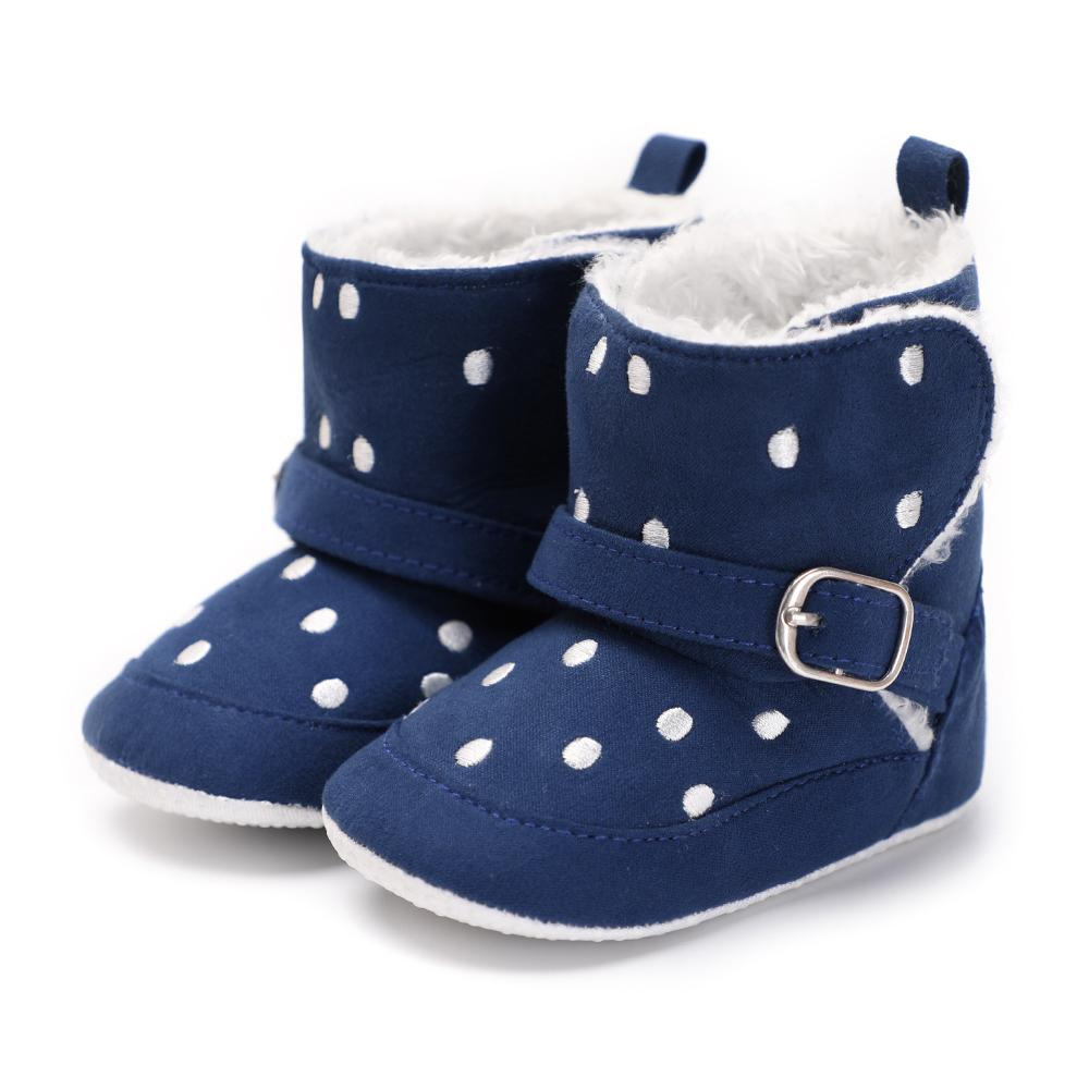 419d9d8a7eb6 2019 Baby Winter Crib Shoes Boots Soft Toddler Infant Snow Keep Warm ...