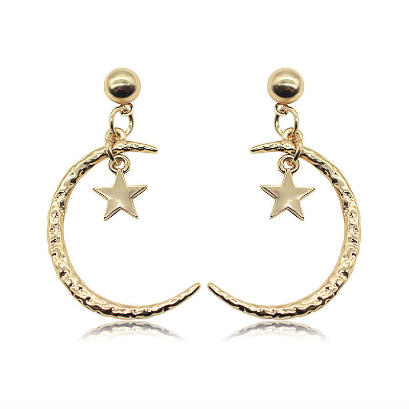 6cca701f5 2019 8SEASONS Bohemia Stud Earrings Gold Color Round Moon Star Pendants  Fashion Trendy Women Ladies Jewelry Gift 2.5*7.5cm, From Uline, $33.45 |  DHgate.Com