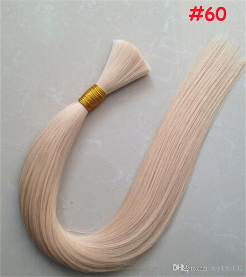 100 جرام الإنسان التضفير الشعر السائبة مستقيم الشعر البرازيلي السائبة أشقر السائبة 100٪ الشعر الخام الطبيعية
