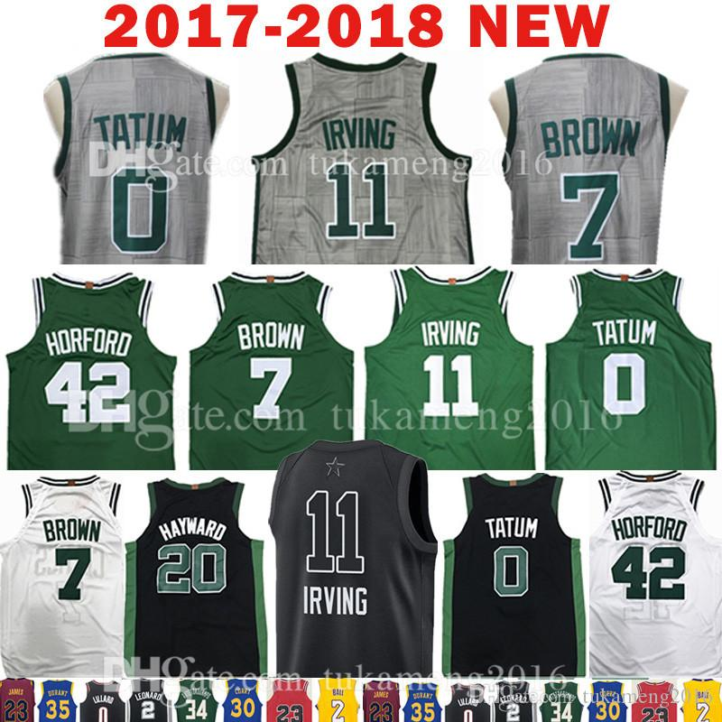 2018 New 11 Kyrie Irving 7 Jaylen Brown Jersey All Star 0 Jayson Tatum 20 Gordon Hayward 42 Al Horford The City Jerseys