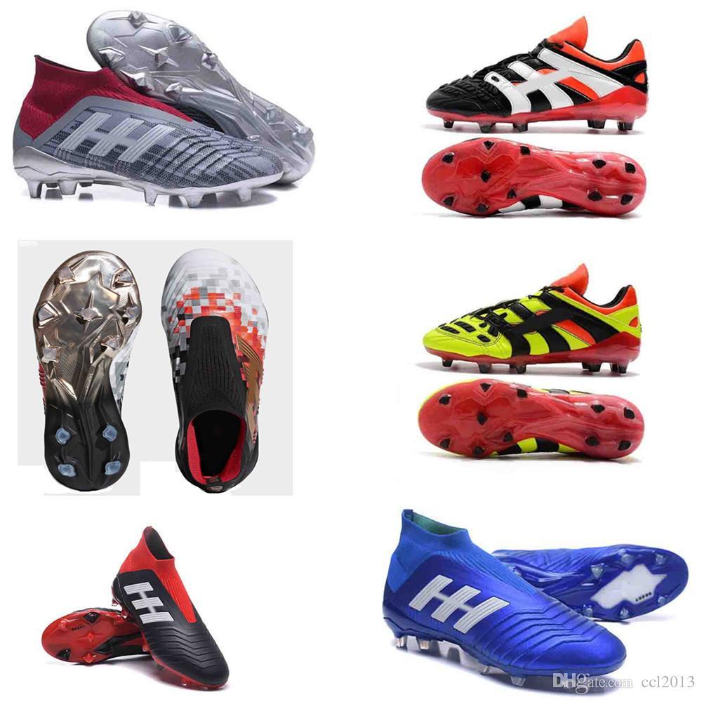 8e457e641b3 ... canada high ankle football boots 18x pogba fg predator accelerator  electricity db kids soccer shoes purecontrol