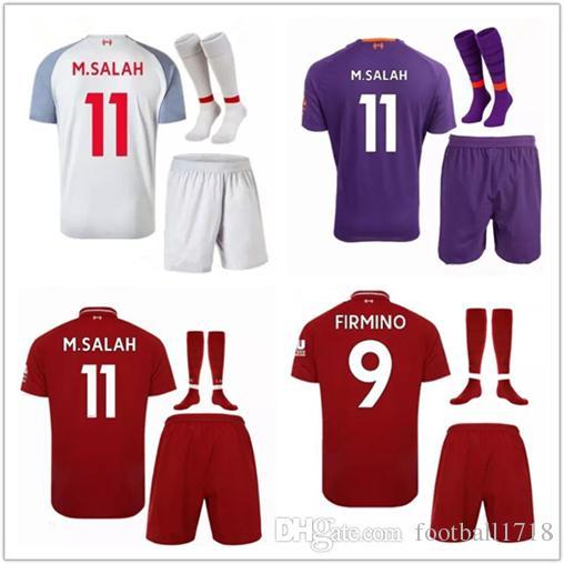 Compre M.SALAH Kits Soccer Jerseys 2019 MANE LALLANA