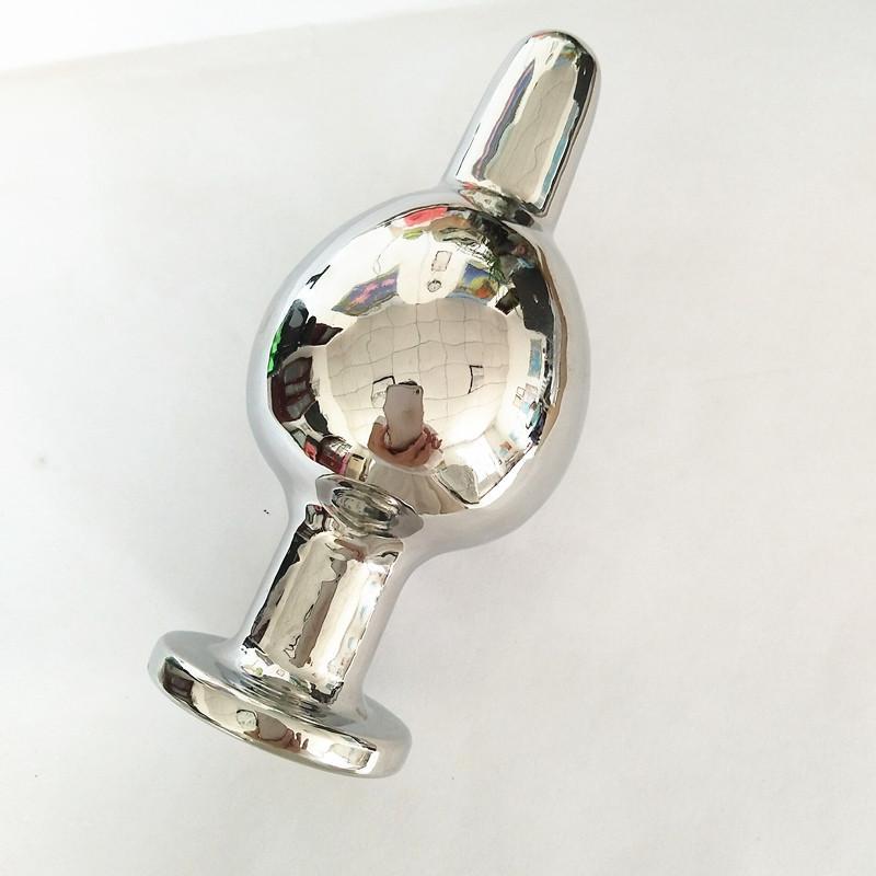아날 플러그 스테인리스 스틸 버트 플러그 Soild Anus Bead Expander 엉덩이 확장기 뒤뜰 플러그 커플 용 항문 섹스 토이 H8-1-77