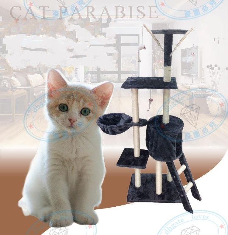 Merdiven Tırmanma Çerçevesi Beş Katmanlı Kedi Ağacı Çerçeve Pet House Oyun Platformu Peluş Bez Fabrika Doğrudan Pazarlama Yüksek Kalite