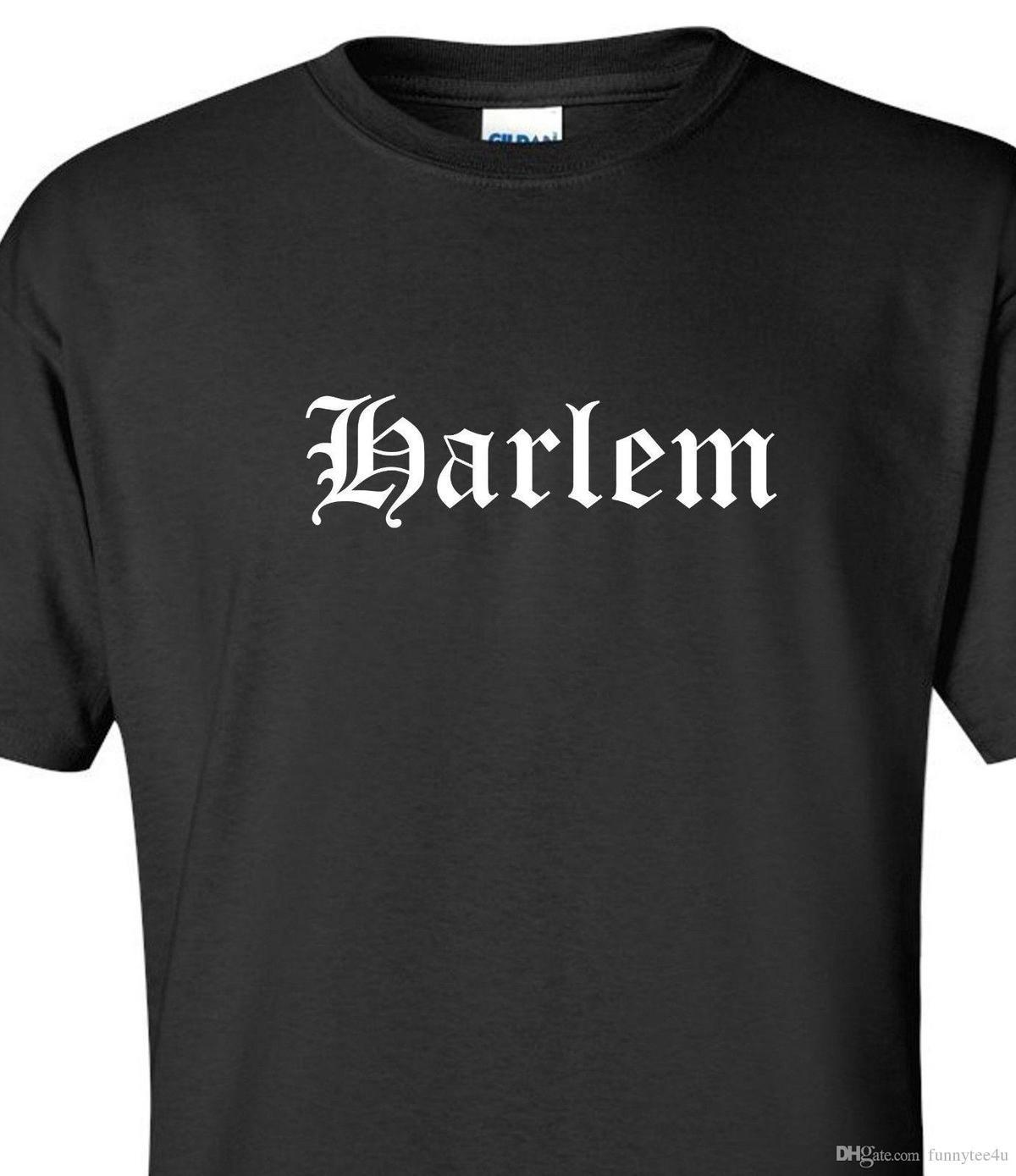 Harlem T Shirt Nyc New York City West East North Hip Hop Urban Tee Shirt S  2Xl T Shirt Short Sleeve Custom Brand Clothing Popular Tshirts Designs T  Shirt S ... e34f73f9155