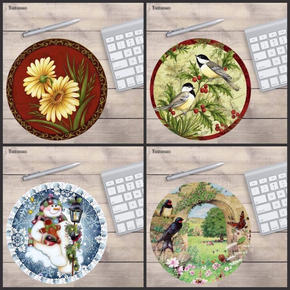yuzuoan design jolly birds unique desktop pad mousepads computer