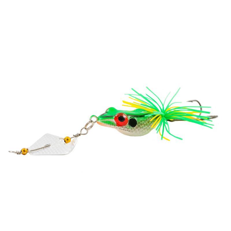 Плавающей Swmming искусственный резиновый Луч лягушка приманка 14 см 11 г Topwater Рыбалка поверхность воды бас spinner приманки