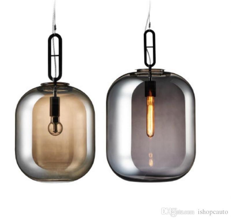 Nordic creative melon pendant lamp restaurant exhibition art personality glass classic designer bedroom living room chandeliers
