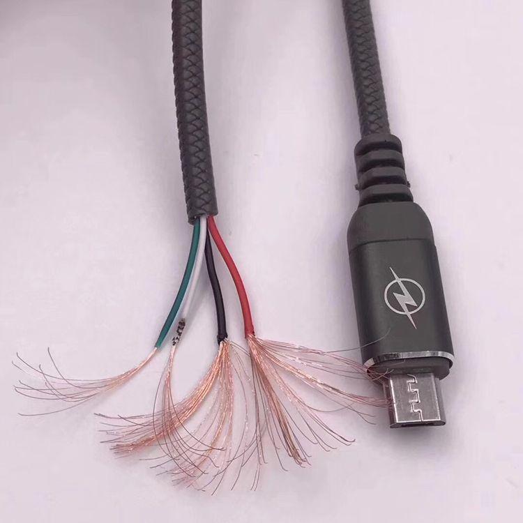 Leder Zahnmuster Kabel Hohe Qualität Schnellladekabel Mit Metall Aluminiumlegierung USB Port Mesh 1 mt Linie Für Samsung LG Typ-C