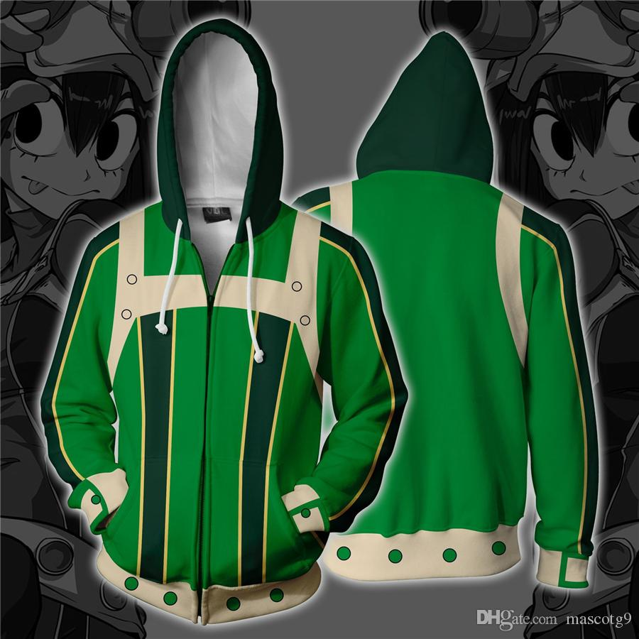 d2e405f84 My Hero Academia Asui Tsuyu Cosplay Costumes Zipper Hoodies Sweatshirts 3D  Printing Unisex Adult Man/Women Clothing Fun Halloween Costumes Funny  Halloween ...