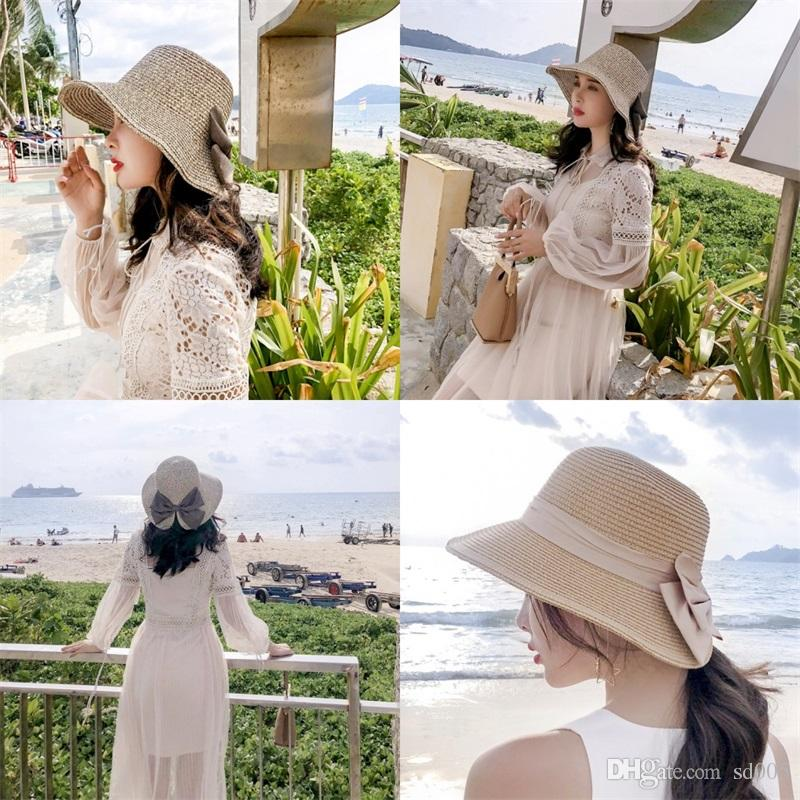 5d00b1e4f Fashion Women Floppy Summer Sun Cap Beach Straw Bucket Hat Fedora Foldable  Church Wide Brim Hats For Outdoor Travel Visor 11 5qn ZZ