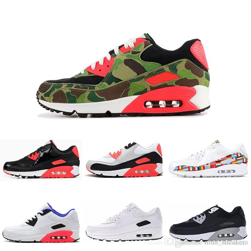 49d379980 New 90 Men Women Running Shoes ATMOS BLACK CROC Black White INFRARED ...