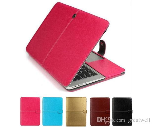 promo code f0207 3a673 Fashion PU Leather Laptop Case for MacBook Air Pro Retina 11.6 12 13.3 15.4  Inch Ultrabook Notebook Cover bag