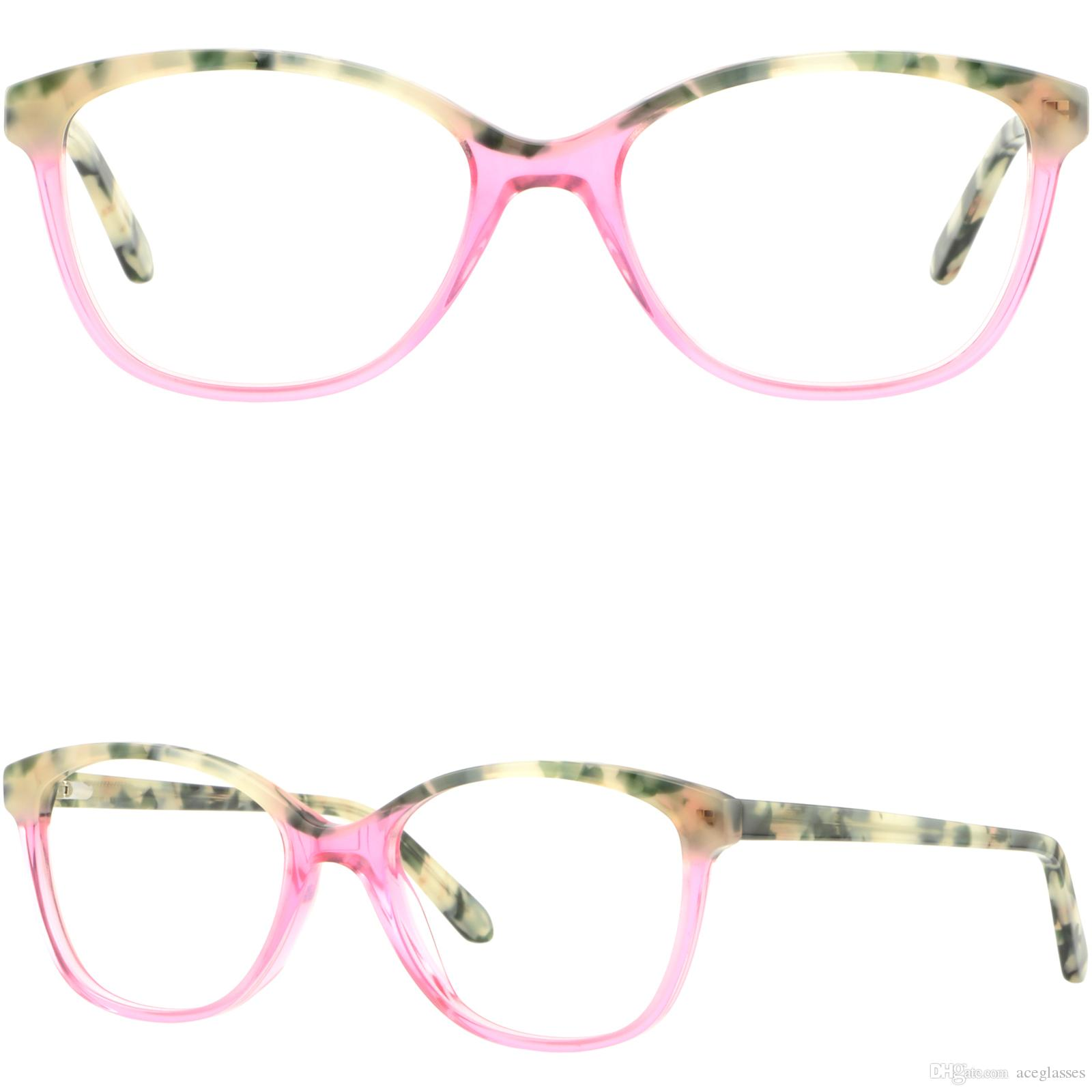a813c0907af1 Light Green Square Womens Acetate Frames Prescription Glasses Pink Spring  Hinges Ladies Glasses Frames Plastic Frame From Aceglasses, $26.35|  DHgate.Com