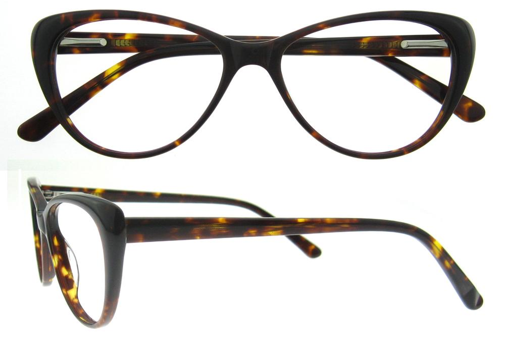 f5ec91546ea 2019 Fashion Eyewear Cat Eye Shape HandMade Prescription Lens Medical Optical  Acetate Glasses Frame For Women AGNES From Alley66