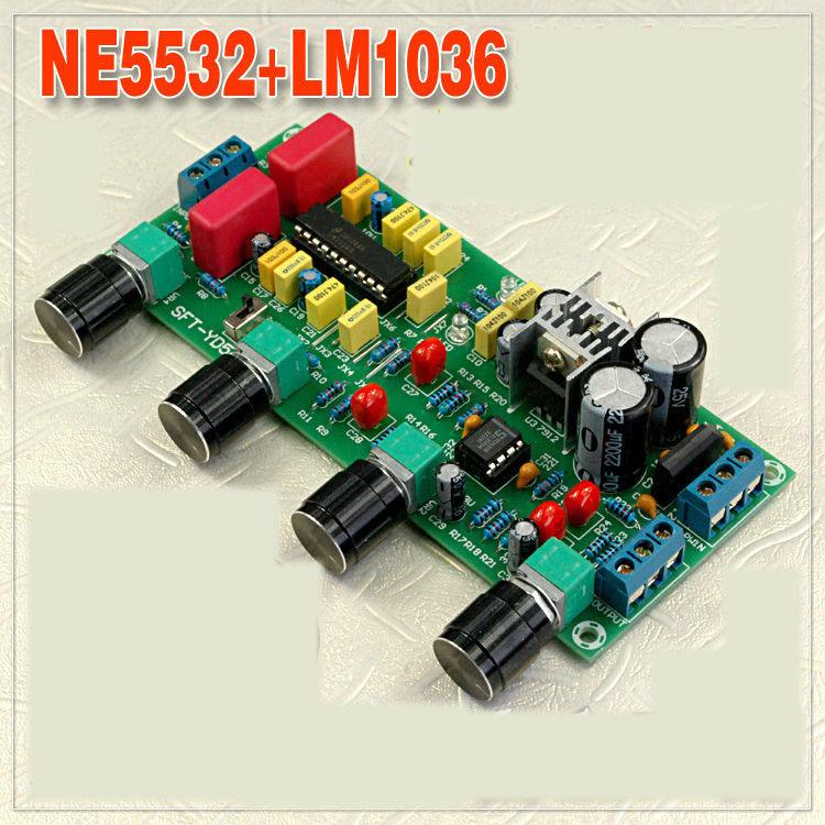 Freeshipping LM1036 NE5532 Stereo Preamp Preamplifier Tone Board Audio  Amplifier Board