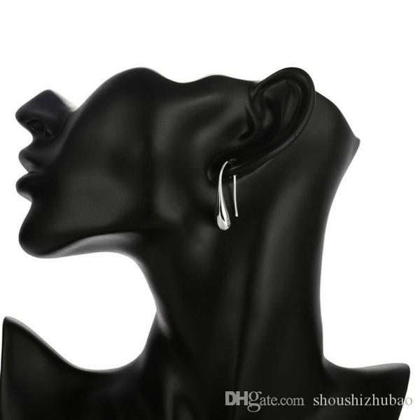 Gota de água Eartrop Big Hand Chain Bracelet Colar Anel Hook Oval Earings Set