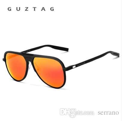 0350f8a210 Compre GUZTAG Unisex Marca Clásica Hombres Gafas De Sol De Aluminio HD  Espejo Polarizado UV400 Hombre Gafas De Sol Mujeres Para Hombres Oculos De  Sol G9828 ...