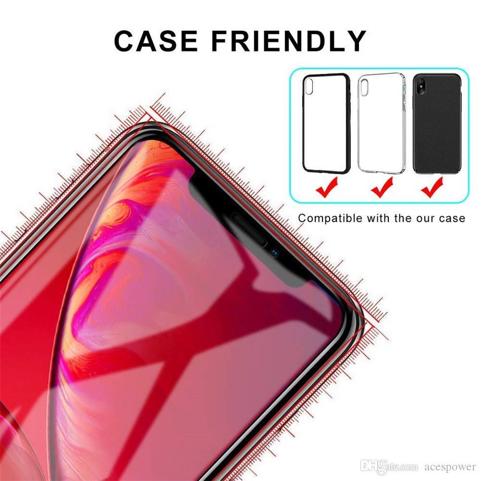 آيفون 12 برو XS ماكس XR كامل الغراء الزجاج المقسى حافة إلى حافة غطاء كامل ل أبل 8 7 زائد حامي الشاشة
