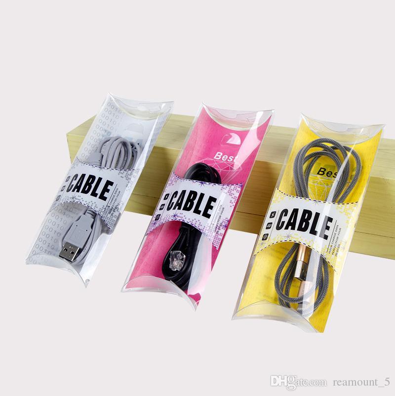 Plastik-PVC-Verpackenkasten, der für USB-Kabel für Samsungs-Anmerkung 8 Paket-Kasten-Daten-Linie Kabel verpackt